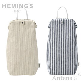 《全3色》HEMING'S TIRER PATTERN ビニール袋収納ケース 【ヘミングス ティレル ゴミ袋 デザイン雑貨 キッチン 台所 ナチュラル NATURAL STRIPE ストライプ 千鳥格子 パターン】