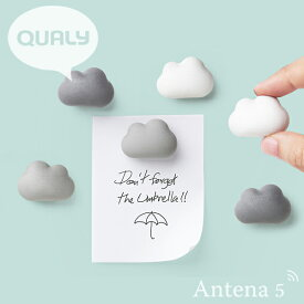 QUALY クラウドマグネット(6個入り) Cloud Magnet 【クオリー ステーショナリー デザイン雑貨 リビング 書斎 インテリア オフィス 事務用品 磁石】