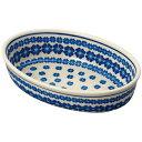 セラミカ(ツェラミカ)【ブラウ】オーバルディッシュ ポーリッシュポタリー(ポーランド陶器・北欧・Ceramika Artyst…