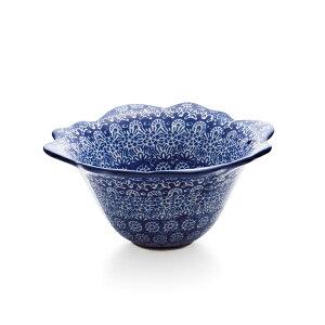 送料無料|セラミカ(ツェラミカ)【フラワー】ボールS(ブルー)|ポーリッシュポタリー(ポーランド陶器・北欧・Ceramika Artystyczna)|※包装のしメッセージカード無料対応