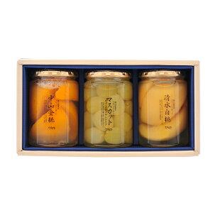 送料無料|岡山県産フルーツコンポート(清水白桃1・中山金桃1・マスカット1)