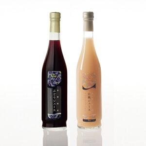 長野県産果実100%ストレートジュース2本セット(ぶどう・白桃)|※包装のしメッセージカード無料対応