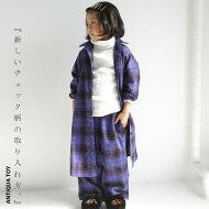 今どきチェックスタイルは新鮮なイロで。チェックシャツワンピース・9月21日20時〜発売。(100)◎メール便可!