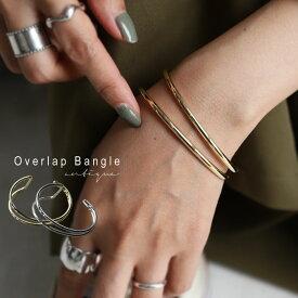 バングル 華奢なデザインながらも、重ね付けしたような存在感。・10月10日0時〜再再販。(30)メール便可
