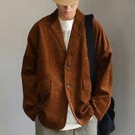 ジャケット羽織るだけで様になる、オーバーサイズに仕上げたコーデュロイ。・メール便不可