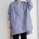 シャツ 捻りを効かせた斜めボタン。一枚で着映える贅沢シャツ・9月10日0時〜発売。(80)メール便可
