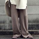 パンツ センターライン入りで綺麗めに履ける。大人の楽ちんニットパンツ・10月10日0時〜発売。メール便不可