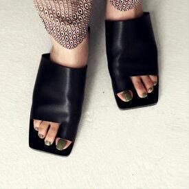 スクエアサンダル サンダル 靴 レディース 痛くない 歩きやすい・メール便不可