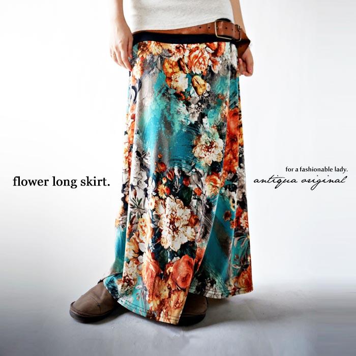 あの感動が蘇る。2wayアートデザイン花柄ロングスカート・5月20日20時〜再再販。『再びあの感動が蘇る。』##
