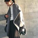余裕ある大人コーデのお供に。スタンドカラーデザインコート★コートの季節が待ち遠しくって。たっぷりスタンドカラー…