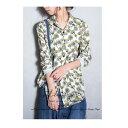 レトロフラワーの上品さ、大人の柄シャツ。花柄デザインシャツ・2月25日20時〜発売。