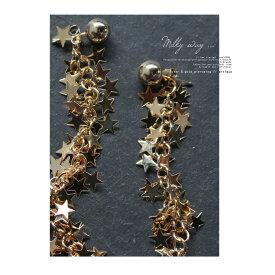 耳元を華やかに、星の煌めきを。スターデザインピアス・再再販。「G」(30)◎メール便可!
