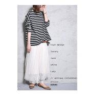 優しい雰囲気に惚れ込んだ、極上フェミニン。チュールレーススカート・##