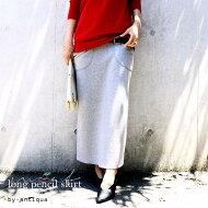 しっとり寄り添う落ち感。カットソー素材スカート・##