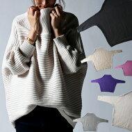 横リブの立体感、綿の風合いの良さに惚れ。ドルマンニットトップス・##