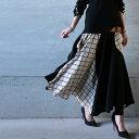 抜群の品と、女性らしさを醸し出す。ウィンドペン切替スカート・3月16日20時〜再販。(100)◎メール便可!
