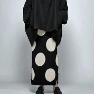 大人の理想を詰め込んだドットデザイン。ドットロングニットスカート・##