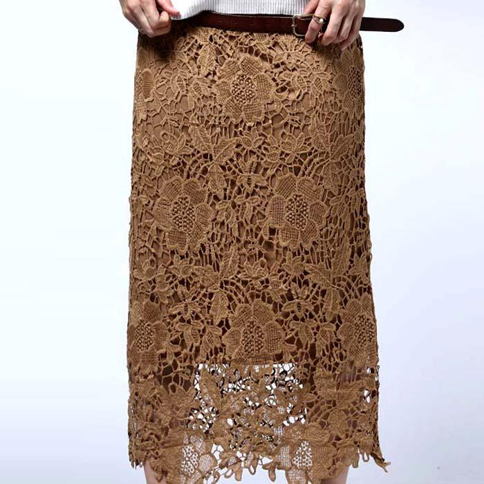 繊細な大人レースの魅力。レーススカート・12月1日20時〜再再販。上品 花 レース 長め 丈「G」 ##×メール便不可!