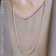 この程よい華やかさが、大人っぽく上品で。パール×ゴールドネックレス・(10)