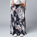さらりとゆれ感に合う軽やかさで華奢見せ。ペイズリー柄スカート・3月13日20時〜再販。##×メール便不可!