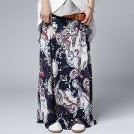 さらりとゆれ感に合う軽やかさで華奢見せ。ペイズリー柄スカート・##×メール便不可!