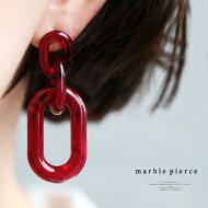 ニュアンスある色合いで印象的な耳元を。マーブルデザインピアス・(10)◎メール便可!