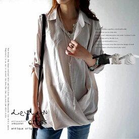 """頼れる""""ワザあり""""。プルオーバーバルーンシャツ・6月12日20時〜再再販。このシャツを即戦力にした。シャツの枠を超えた、予想外のデザイン。##×メール便不可!"""