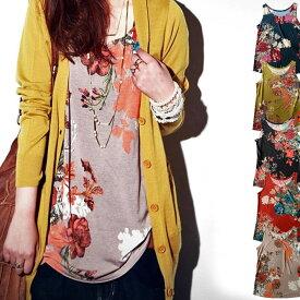 大人流アレンジ。大人気スカートのあの柄がタンクトップに。・再再販。アンティーク花柄タンクトップ。「G」(30)◎メール便可!