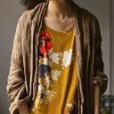 大人流アレンジ。大人気スカートのあの柄がタンクトップに。・再再販。アンティーク花柄タンクトップ。(30)メール便可