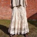 クロシェロングスカート スカート ボトムス ロング 送料無料・6月24日10時〜再再販。05番色以外発送は7/7〜順次。メー…