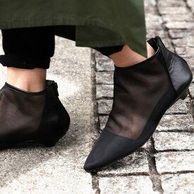 ショートブーツ 靴 レディース シースルー ブーツ 送料無料 送料無料・再販。メール便不可(REV)【218B】