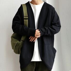 カジュアルなジャケット的存在。着脱しやすい手軽さ。綿裏毛カーデ・再再販。メール便不可【MENS】