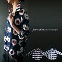 期間限定送料無料!目に鮮やかなレトロ花。『シャツを超えるシャツ。』5月4日20時〜再再販!ココロ捉えるその色あい。レトロ花柄シャツj4