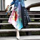 期間限定送料無料!大人っぽく優美に彩るflower。『プリーツスカートに花柄を加えて特別感を。』4月17日20時〜再再販!親子コーデ出来るッ、キッズサイズあり。...