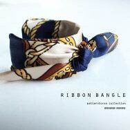 スカーフを巻くより簡単。『ブレスレットタイプで楽してオシャレに。』レトロアンティークな柄に酔いしれる。スカーフ柄ブレスレット##