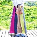 期間限定送料無料!このイロと色が出逢えて本当に良かった。『デザイナー試行錯誤の絶品スカート。』6月17日19時〜発売!女性の綺麗をみちびく。色切り替えロングスカート##m1