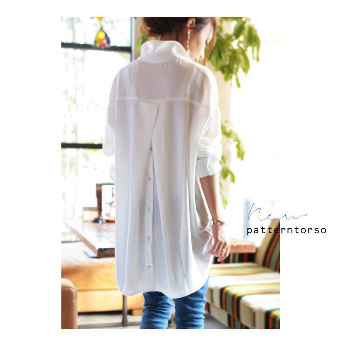 惚れ惚れする、極上のとろみシャツ。バックボタン付きシャツ・2月17日20時〜再再販。前後差 ##