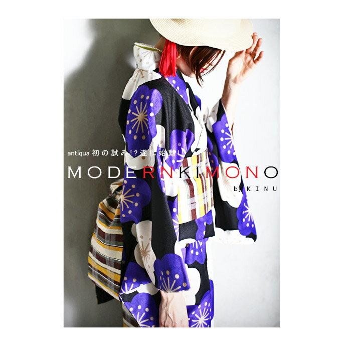 「第一弾。洗える着物!?」レトロ花柄着物・帯・付襟3点セット・3月17日20時〜発売。##