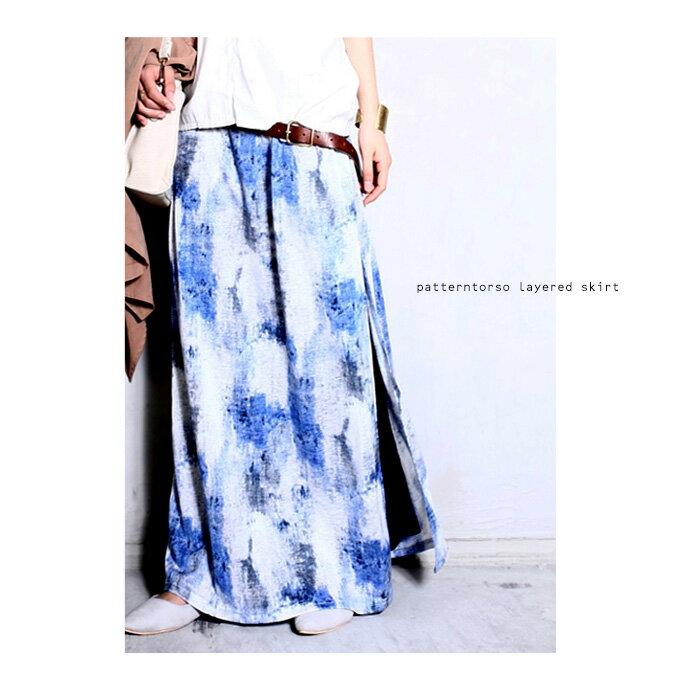 大人の上質感漂う、素材と柄にヒトメボレ。柄スリットスカート・5月19日20時〜再販。##