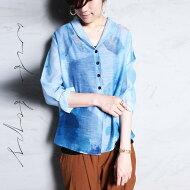 涼しげな風合いでotonaの装いに。アート柄羽織りカーディガン・