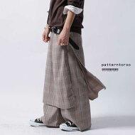 トラッドな英国風のチェック柄がお洒落。スカート付きパンツ・##