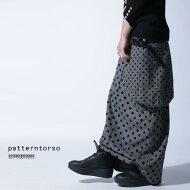 素敵と目を惹く変形design。ドット変形スカート・##