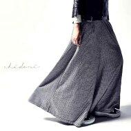 まるでスカートのようなたっぷりシルエット。千鳥柄ワイドパンツ・##