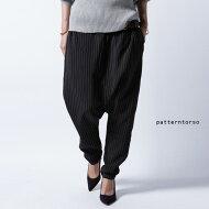otoanストライプ。綺麗に穿けるモードパンツ。ストライプサルエルパンツ・##