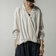 大人が着たい、こなれ変形design。カシュクールデザインシャツ・##