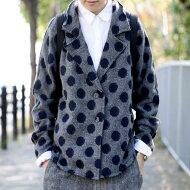 ウール混、カットオフのデザイン度の高さが出す高級感。ドットジャケット・##