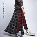 英国ムードでマニッシュな着こなしを。タータンチェックアシメスカート・12月12日20時〜発売。##×メール便不可!