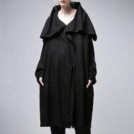 着こなしに厚みを持たせる、極上ウールの風合い。モード羽織りコート・##
