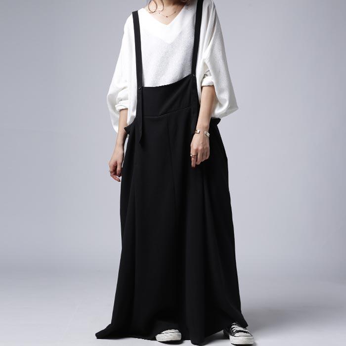 上質落ち感、ちょっと力を抜いて可愛い大人。シンプルサロペスカート・1月12日20時〜発売。##×メール便不可!
