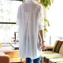 惚れ惚れする、極上のとろみシャツ。バックボタン付きシャツ・1月30日10時〜再再販。前後差 ##×メール便不可!